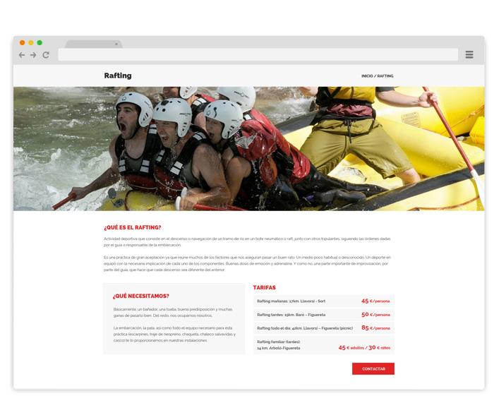diseno_página_web_empresa_deportes_aventuras_raftingpirineo
