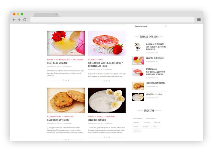 Diseño Blog de Recetas de Cocina | Diseño Gráfico y Web
