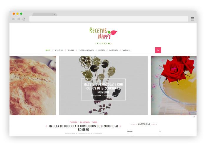 dise o blog de recetas de cocina dise o gr fico y web