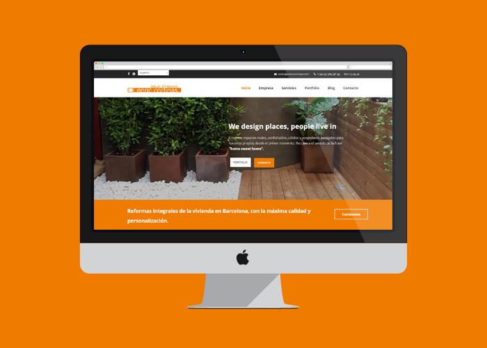 Dise o p gina web para estudio de interiorismo y reformas for Paginas de interiorismo