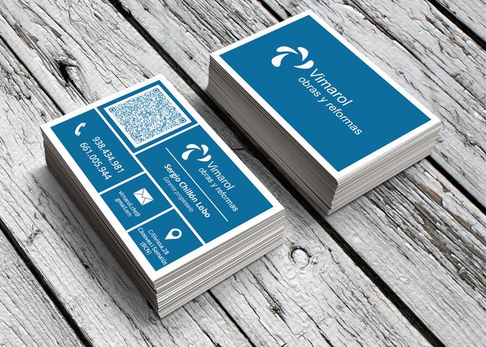 Dise o de tarjetas de visita empresa de construcci n y - Empresas reformas barcelona ...